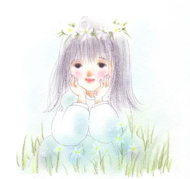 伊東千江 イラスト作品 花かんむりchie Ito ほんわかイラストの小部屋